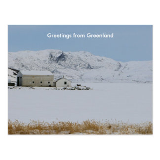 Cartão Postal Cumprimentos de Greenland 14