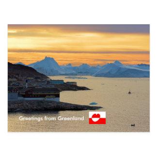 Cartão Postal Cumprimentos de Greenland 21