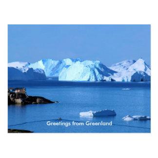 Cartão Postal Cumprimentos de Greenland 9