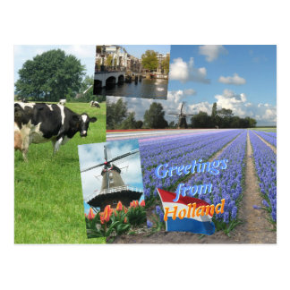 Cartão Postal Cumprimentos de Holland