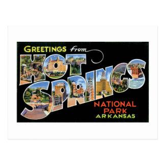 Cartão Postal Cumprimentos de Hot Springs!