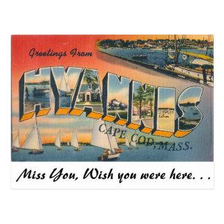 Cartão Postal Cumprimentos de Hyannis