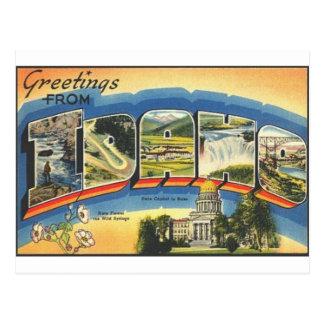 Cartão Postal Cumprimentos de Idaho