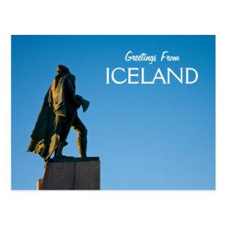 Cartão Postal Cumprimentos de Islândia
