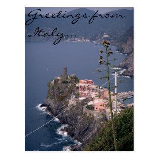 Cartão Postal Cumprimentos de Italia…
