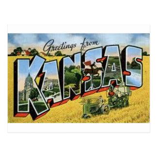 Cartão Postal Cumprimentos de Kansas