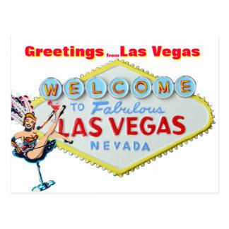 Cartão Postal Cumprimentos de Las Vegas