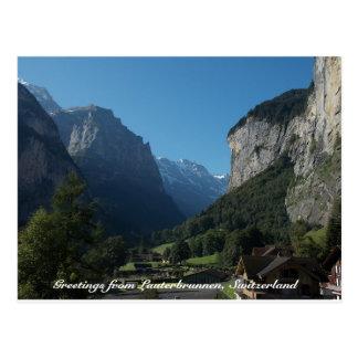 Cartão Postal Cumprimentos de Lauterbrunnen, suiça 1