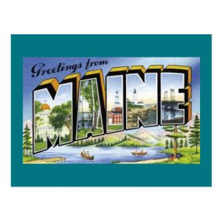 Cartão Postal Cumprimentos de Maine