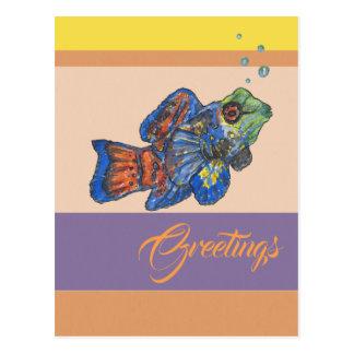 Cartão Postal Cumprimentos de Mandarinfish