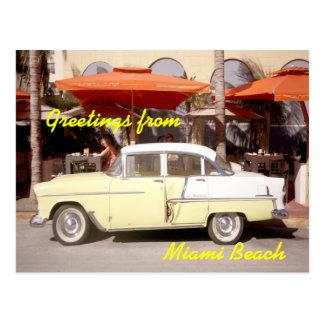 Cartão Postal Cumprimentos de Miami Beach