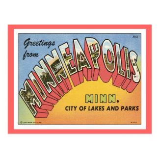 Cartão Postal Cumprimentos de Minneapolis