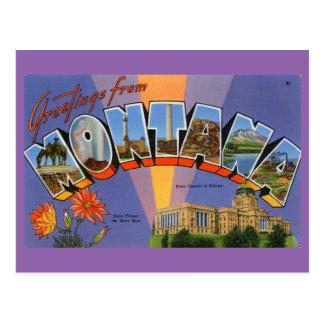 Cartão Postal Cumprimentos de Montana