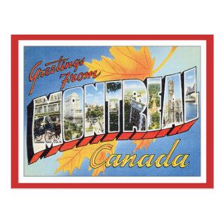 Cartão Postal Cumprimentos de Montreal Canadá
