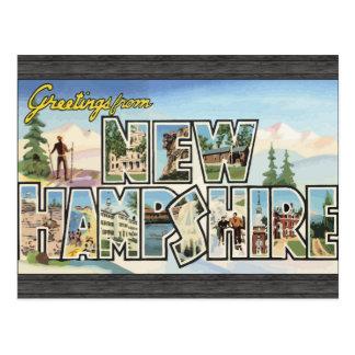 Cartão Postal Cumprimentos de New Hampshire, vintage