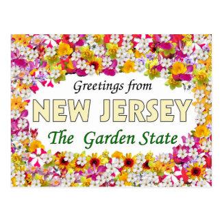 Cartão Postal Cumprimentos de New-jersey