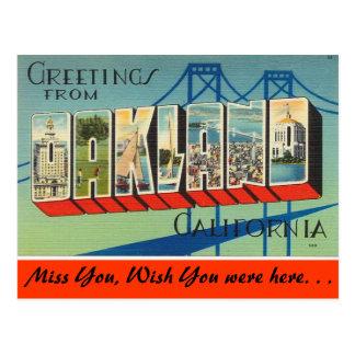 Cartão Postal Cumprimentos de Oakland