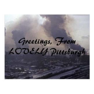 Cartão Postal Cumprimentos, de Pittsburgh BONITO