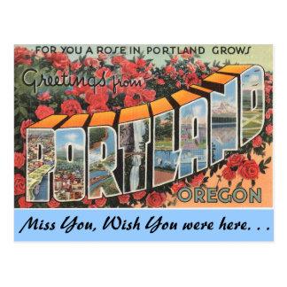 Cartão Postal Cumprimentos de Portland