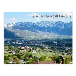 Cartão Postal Cumprimentos de Salt Lake City