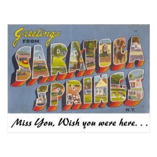Cartão Postal Cumprimentos de Saratoga Springs