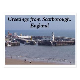 Cartão Postal Cumprimentos de Scarborough, Inglaterra