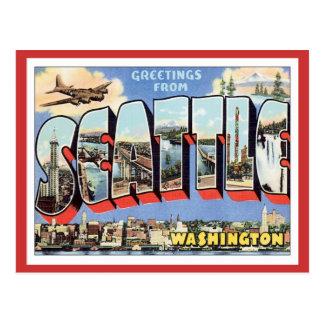 Cartão Postal Cumprimentos de Seattle, Washington EUA