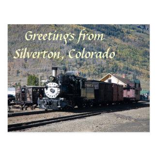 Cartão Postal Cumprimentos de Silverton, Colorado