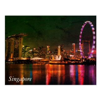 Cartão Postal Cumprimentos de Singapore