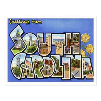 Cartão Postal Cumprimentos de South Carolina dos estados de E.U.