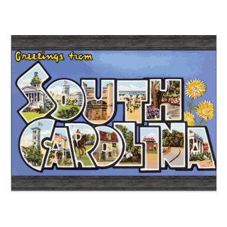 Cartão Postal Cumprimentos de South Carolina, vintage