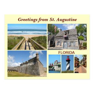 Cartão Postal Cumprimentos de St Augustine, Florida