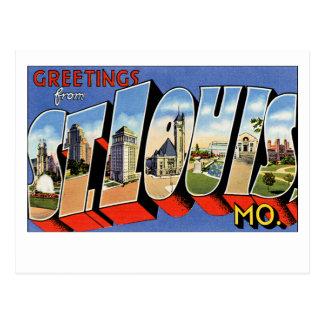 Cartão Postal Cumprimentos de St Louis