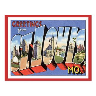 Cartão Postal Cumprimentos de St Louis Missouri