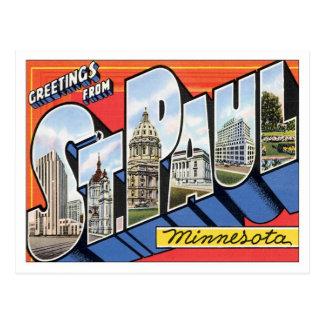 Cartão Postal Cumprimentos de St Paul Minnesota