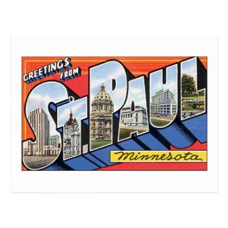 Cartão Postal Cumprimentos de St Paul, Minnesota