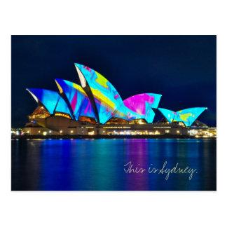 Cartão Postal Cumprimentos de Sydney