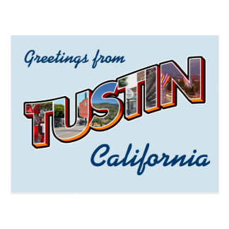 Cartão Postal Cumprimentos de Tustin, Califórnia