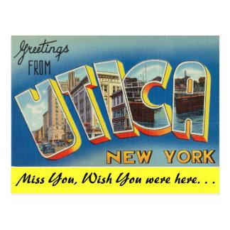 Cartão Postal Cumprimentos de Utica