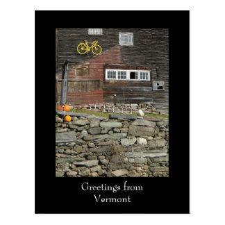 Cartão Postal Cumprimentos de Vermont