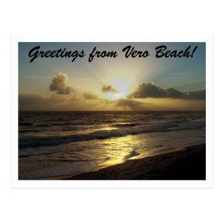 Cartão Postal Cumprimentos de Vero Beach!
