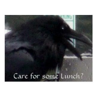 Cartão Postal Cumprimentos do corvo de Alaska