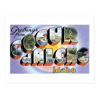 Cartão Postal Cumprimentos do d'Alene de Coeur, Idaho!