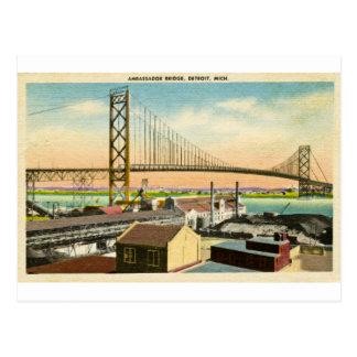 Cartão Postal Cumprimentos do embaixador Ponte Detroit