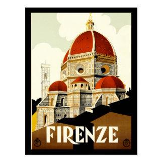 Cartão Postal Cumprimentos do impressão de Firenze Italia do