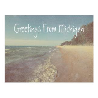 Cartão Postal Cumprimentos do Lago Michigan bonito