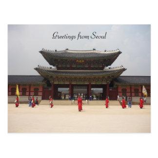 Cartão Postal cumprimentos do palácio