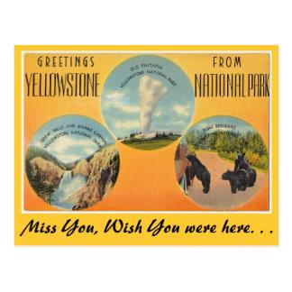 Cartão Postal Cumprimentos do parque nacional de Yellowstone