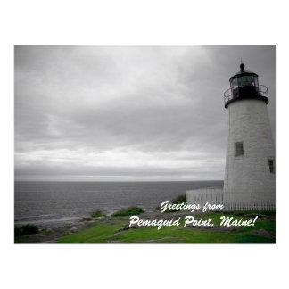 Cartão Postal Cumprimentos do ponto de Pemaquid, Maine!