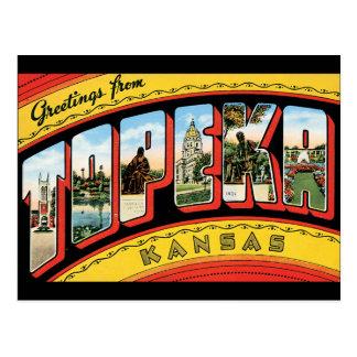 Cartão Postal Cumprimentos do Topeka